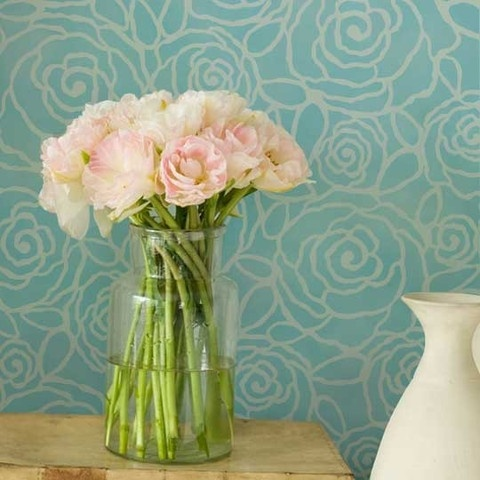 Florals work great on walls