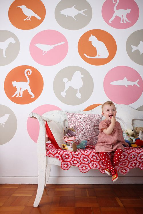 Stencils work great in kids rooms