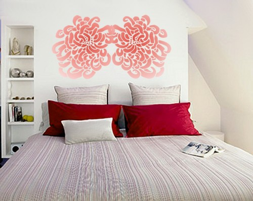 If you just want to give your room a lift, use a small stencil design