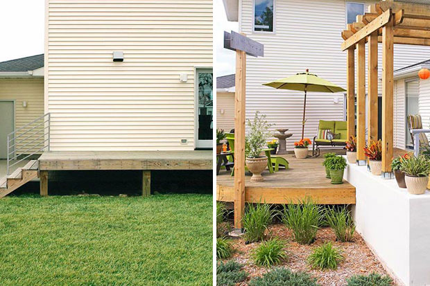 Don't be afraid to add more plants and a garden to your deck space