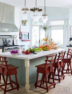 Sharon and Ozzy Osbourne's country/modern mix kitchen