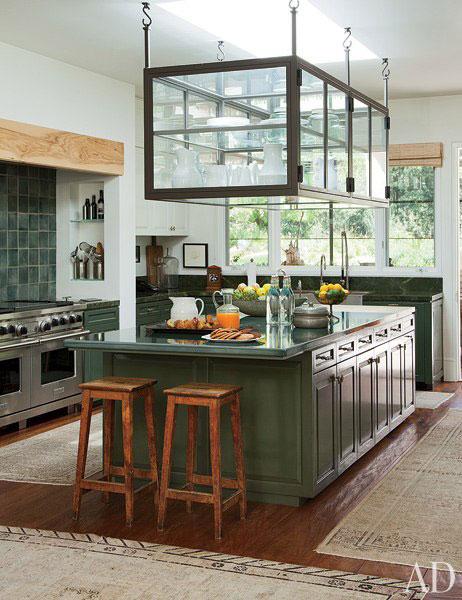 Ellen DeGeneres and Portia de Rossi's artisan design kitchen