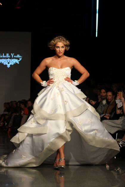 Jaime opens the NZ Weddings show at New Zealand Fashion Week
