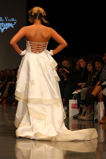 Jaime Ridge models in the NZ Weddings show