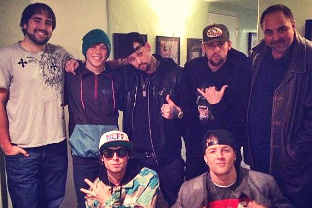 Emblem3 in the stuido with the boys from Good Charlotte