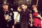 Emblem3 in the studio with Martin Says from Boys Like Girls