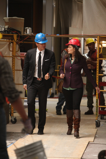 There's an awkward tension between Booth and Brennan since they've been back together