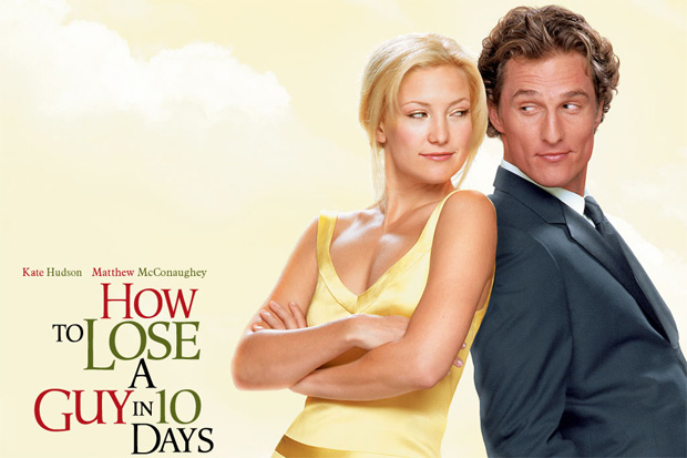 Matthew leaning again on Kate Hudson for 'How to lose a guy in 10 days'