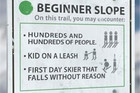 Very Accurate Skiing Signs