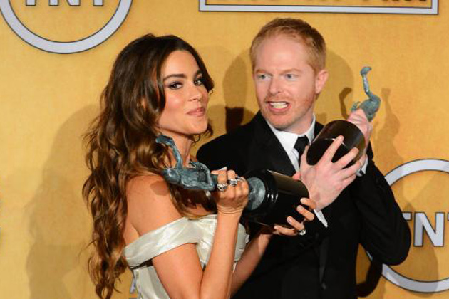 Sofia Vergara and Jesse Tyler Ferguson at the SAG Awards
