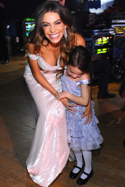 Sofia Vergara with Aubrey Anderson-Emmons at the SAG Awards