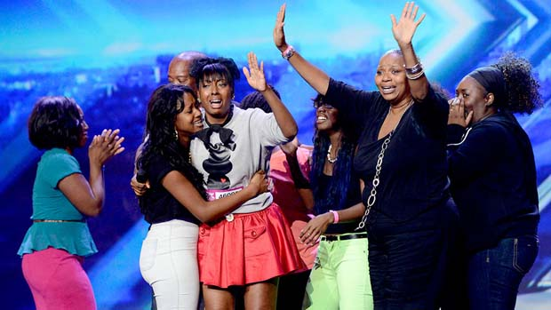 Ashly Williams' family rushed the stage after she quickly got four yeses from the judges.