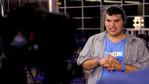 After his stellar performance Carlos Guevara is interviewed backstage.