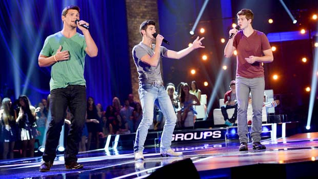 "Simon's decision to make the group Restless Road proved profitable when the guys rocked the audience to a rendition of Keith Urban's ""Somebody Like You."""