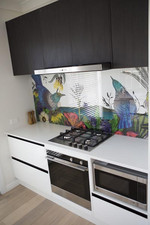 Loz and Tom's Fisher & Paykel appliances are seamlessly incorporated into the fitout