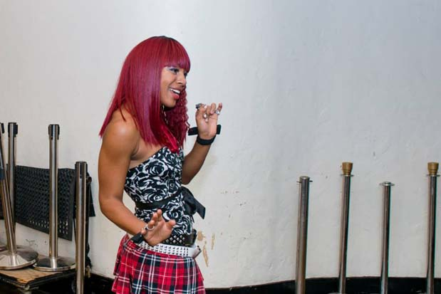 Primrose Martin practiced her dance moves backstage before her Four Chair Challenge performance.