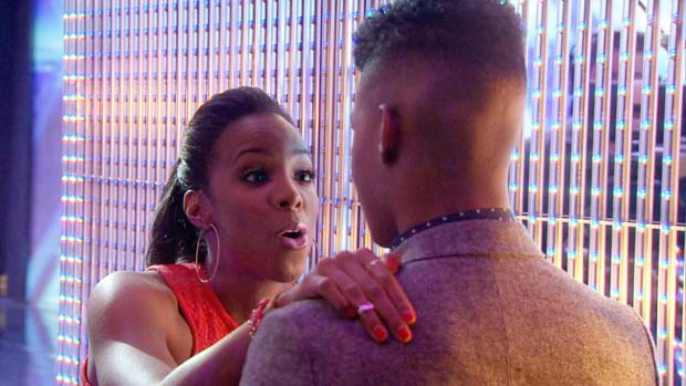 Kelly Rowland gives Rickey Clark some much needed advice the judges didn't send him through to the next round.
