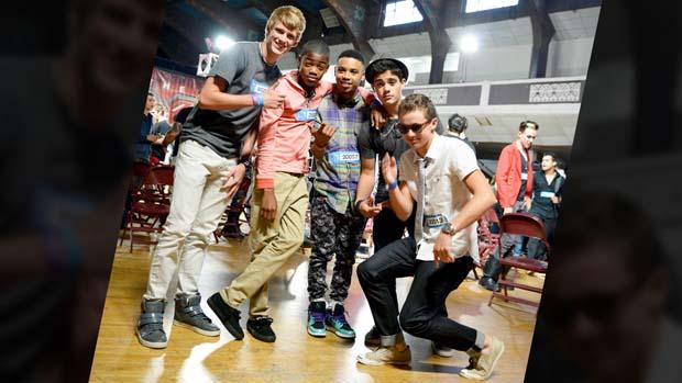 The boys strike a pose backstage!