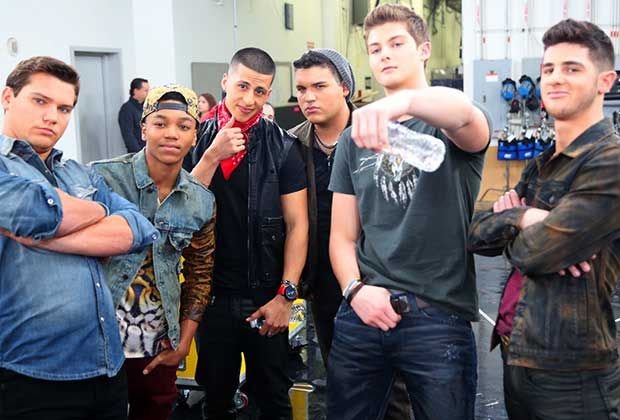 Boys will be boys! The guys of Restless Road popped a manly pose with Josh Levi, Carlito Olivero and Carlos Guevara.