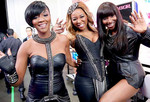 The foxy ladies of RoXxy Montana showed off their love for leather backstage at the live shows.