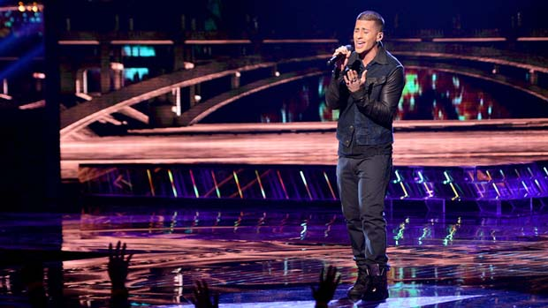 """An under-the-weather Carlito Olivero took on Daniel Bedingfield's """"If You're Not The One."""""""
