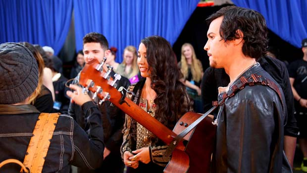 Check out Alex & Sierra right before they hit the stage.
