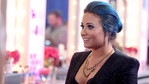 Demi Lovato checked out the contestants' looks before the show.