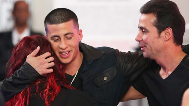 Carlito Olivero earned a hug after his second performance of the week.