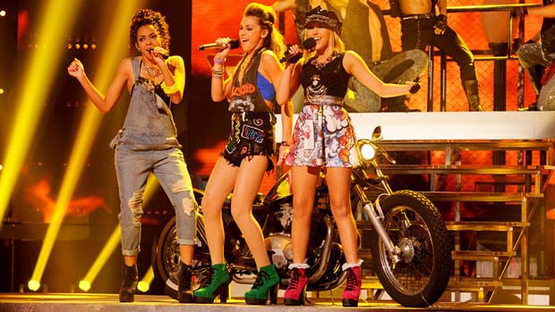 The sweet girls of Sweet Suspense looked edgy in their 1980s looks.