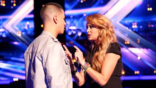 Paulina gives Carlito some advice before the show