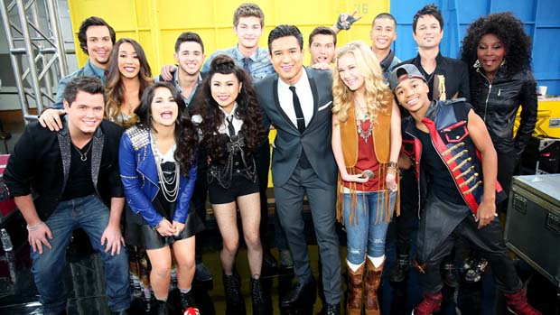 The Top 10 enjoyed some quality time with our host Mario Lopez before their British Invasion performances.