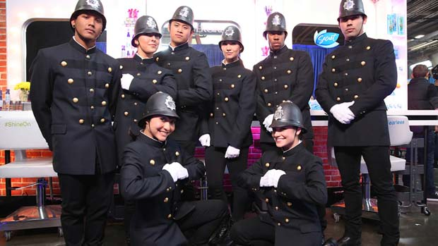 The X FACTOR did British Invasion night right! They even brought in some dancing constables for the occasion.