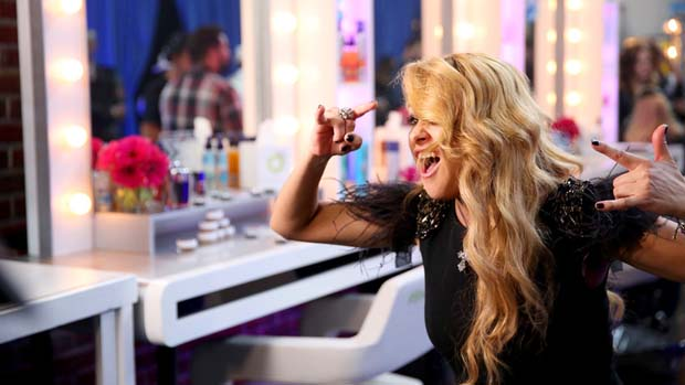 Paulina Rubio shows off her goofier side.