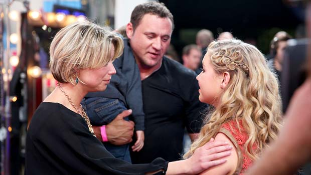Rion Paige's mom makes sure her daughter is ok after her near elimination.