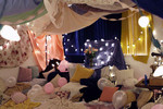Throw a fort party using sheets and blankets.  This is a great idea for indoor or outdoor events