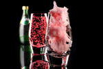 Fill a glass with pink candy floss and pour over bubbles or champagne for the most beautiful summer drink.