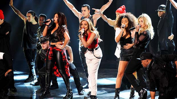 "The X Factor UK's first ""Groups"" winner - Little Mix - took The X Factor USA stage."