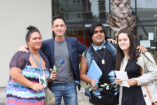 Dominic Bowden at the The X Factor auditions in Auckland