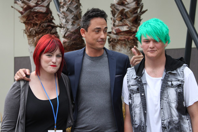 Dom gets a few hair tips on hair colour from these Auckland hopefuls