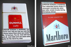 Packagine on cigarettes