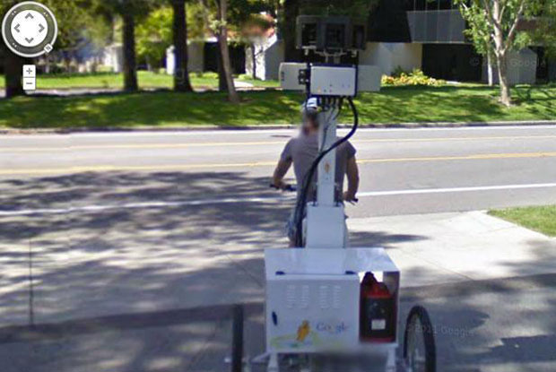 Here's what the Google Street View bike looks like!