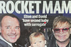 A pun based of Elton's number 1 hit 'Rocket Man'