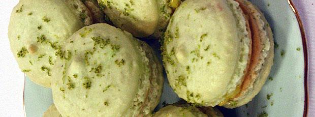 Sarah's Macaron with Lime Custard Filling