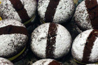 Sarah's Chocolate Whoopie Pies with Blueberry Jam and Cream Cheese Frosting