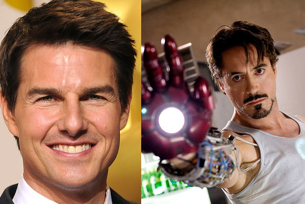 Tom Cruise was considered as the lead in Iron Man (Robert Downey Jnr gives it a bit of edge)