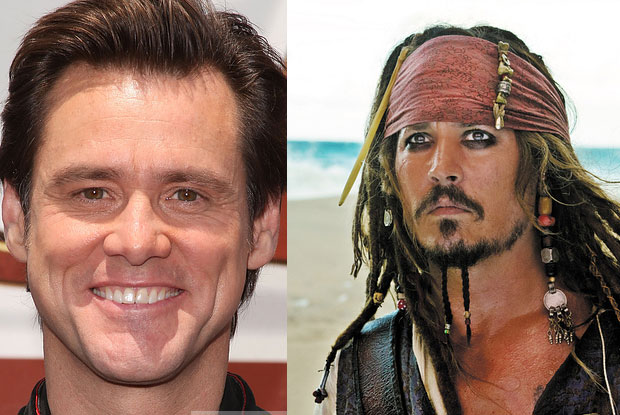 Jim Carrey as Jack Sparrow would have been some very different films (Johnny Depp is now known for this character)