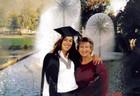 Loz is a happy graduate!