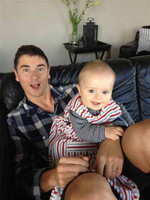 Caleb chilling with his nephew