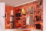 Turn part of a room into a DIY walk-in-wardrobe by setting these poles up!