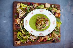 Grilled Tune, Kinda Nicoise Salad